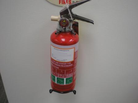 Fire extinguisher classification label location
